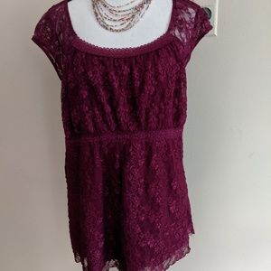 Lacey Burgundy Top